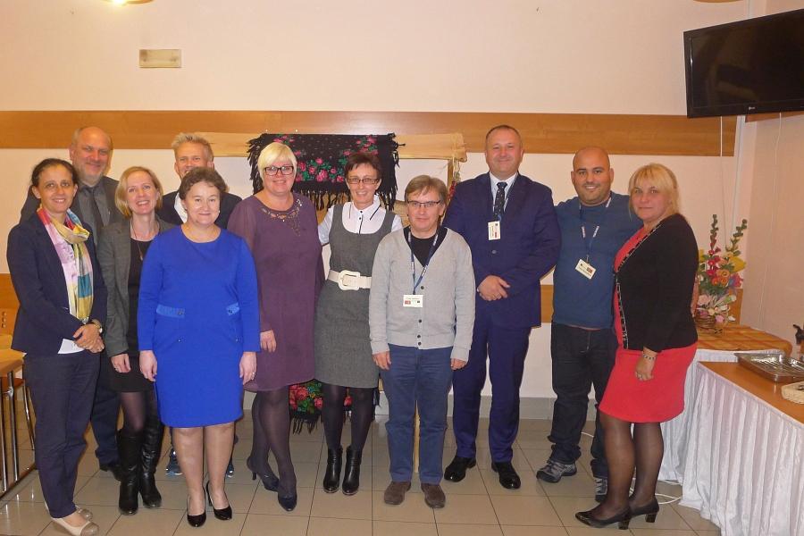 Wizyta wGimnazjum wGrybowie - nauczyciele zNorwegii iPortugalii
