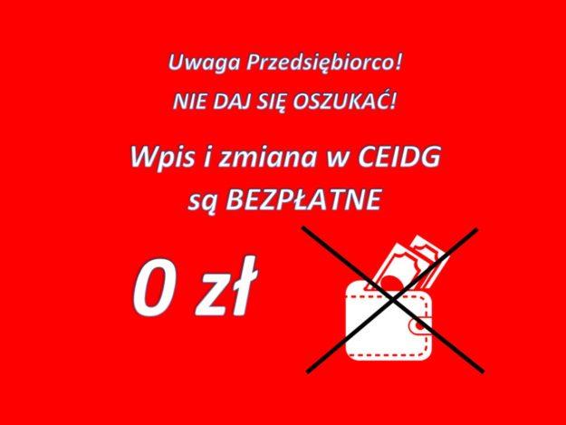 Komunikat Ministerstwa Rozwoju: Bezpłatny wpis do CEIDG