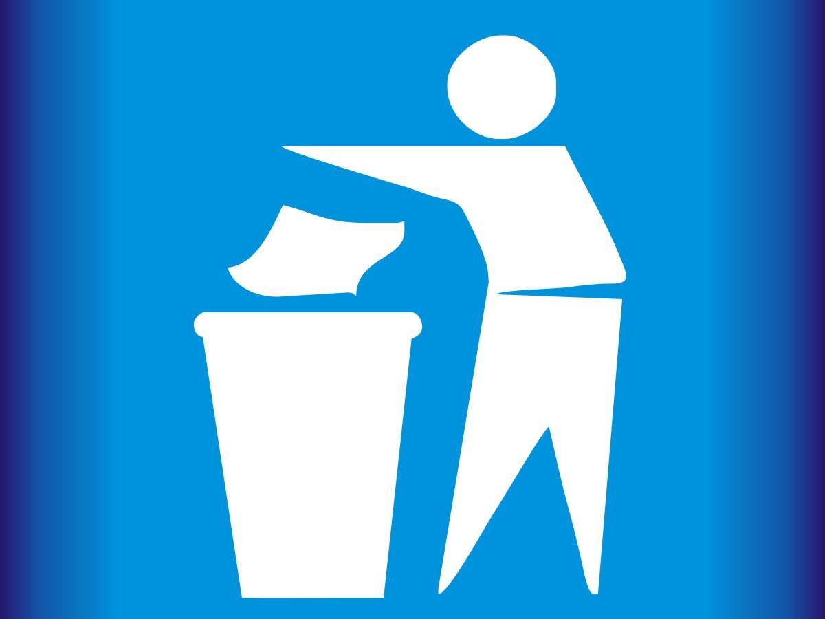Znak - segregacja śmieci
