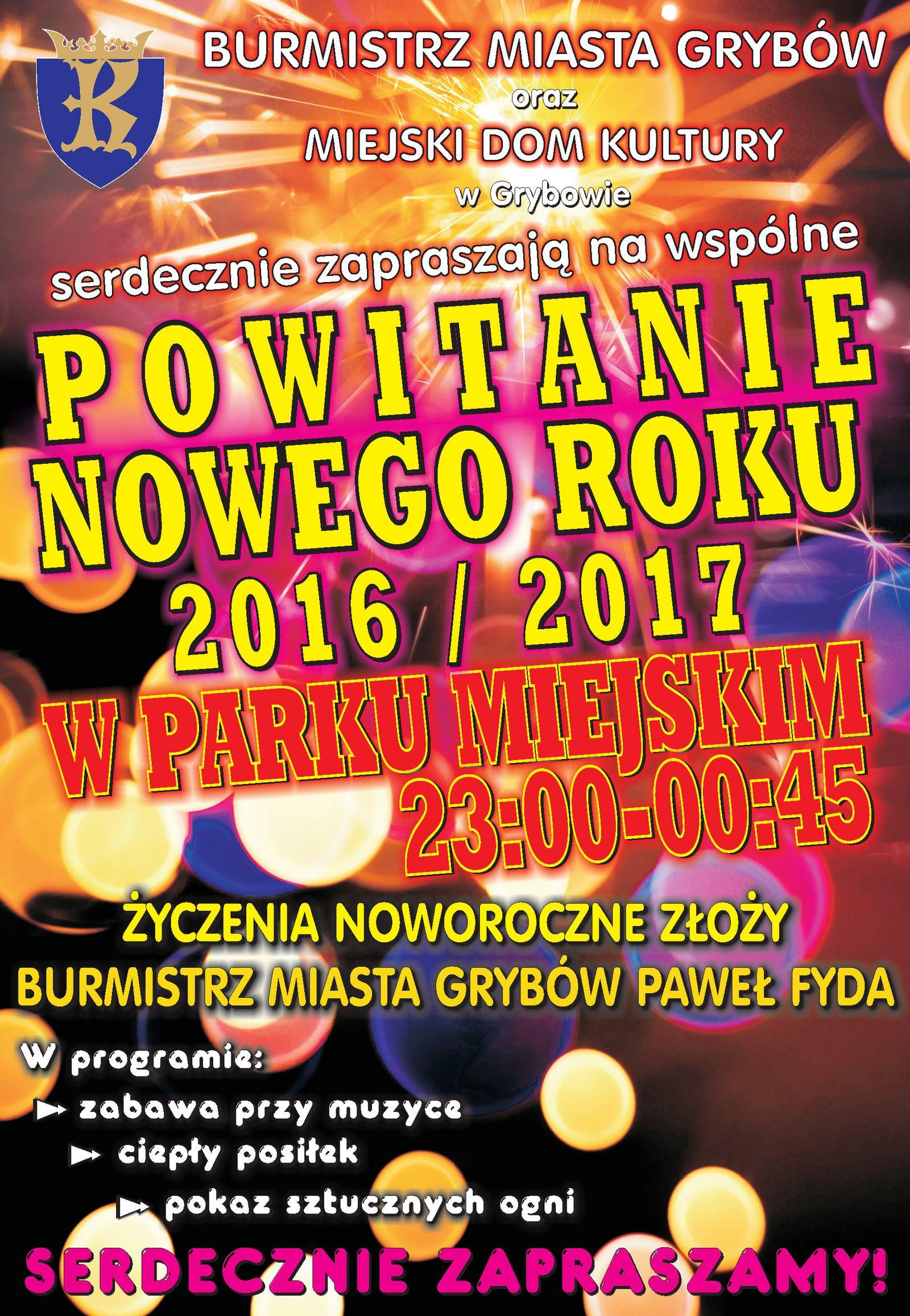 Plakat - Powitanie Nowego Roku
