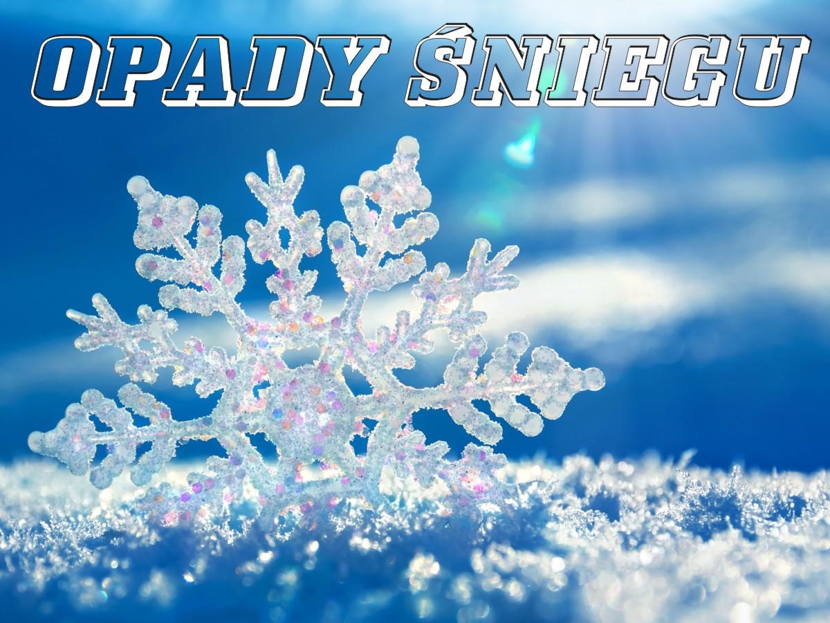 Komunikat: Opady śniegu