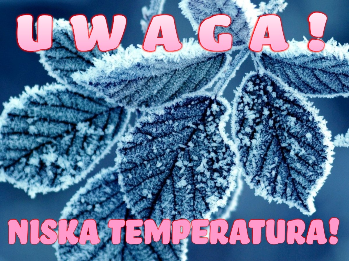 Uwaga! Niska temperatura