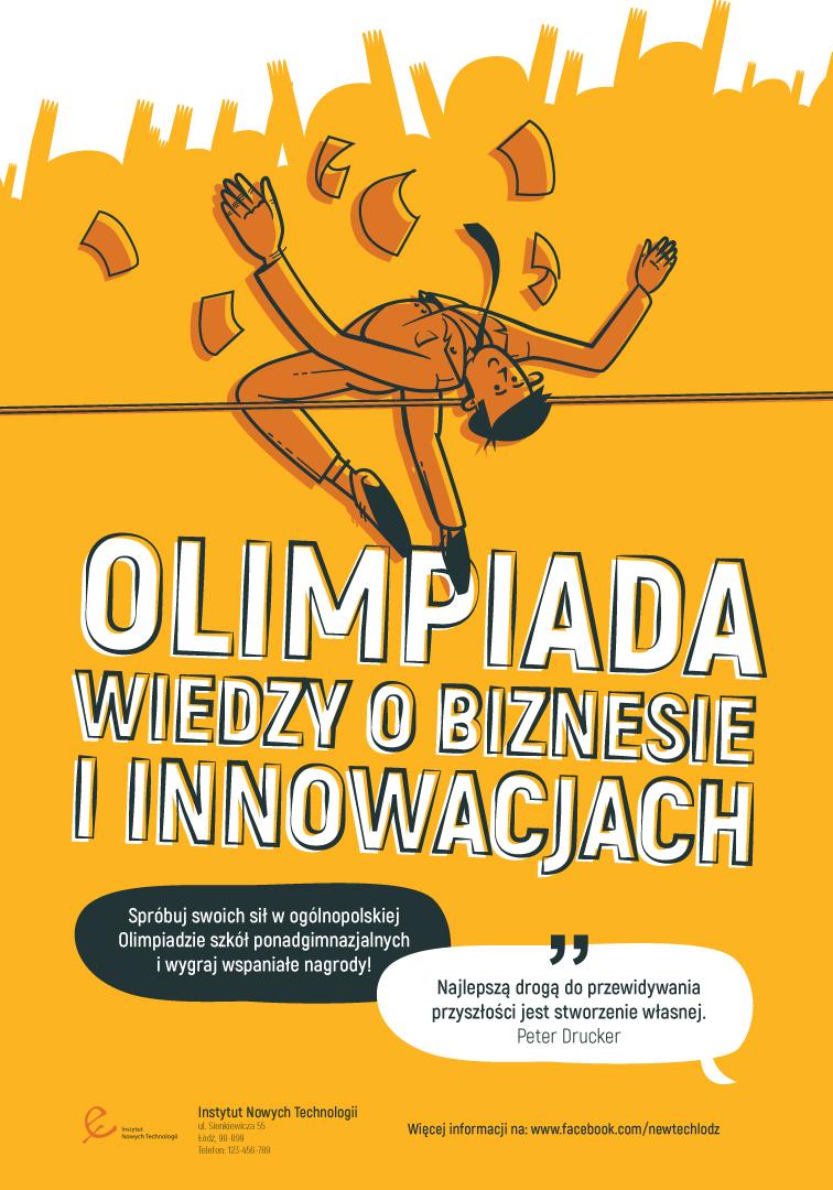 """Plakat """"Olimpiada wiedzy obiznesie"""""""