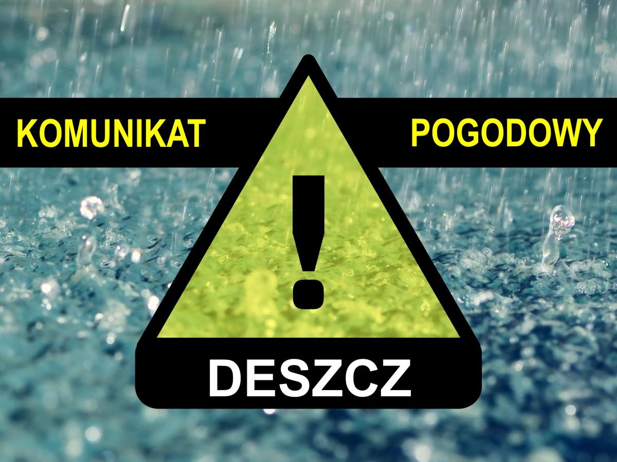 Komunikat pogodowy: Deszcz