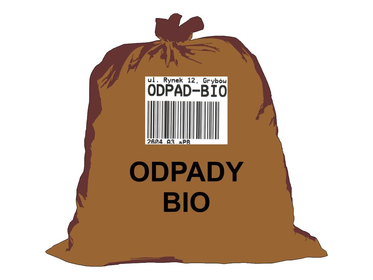 Gospodarka odpadami komunalnymi - worek brązowy