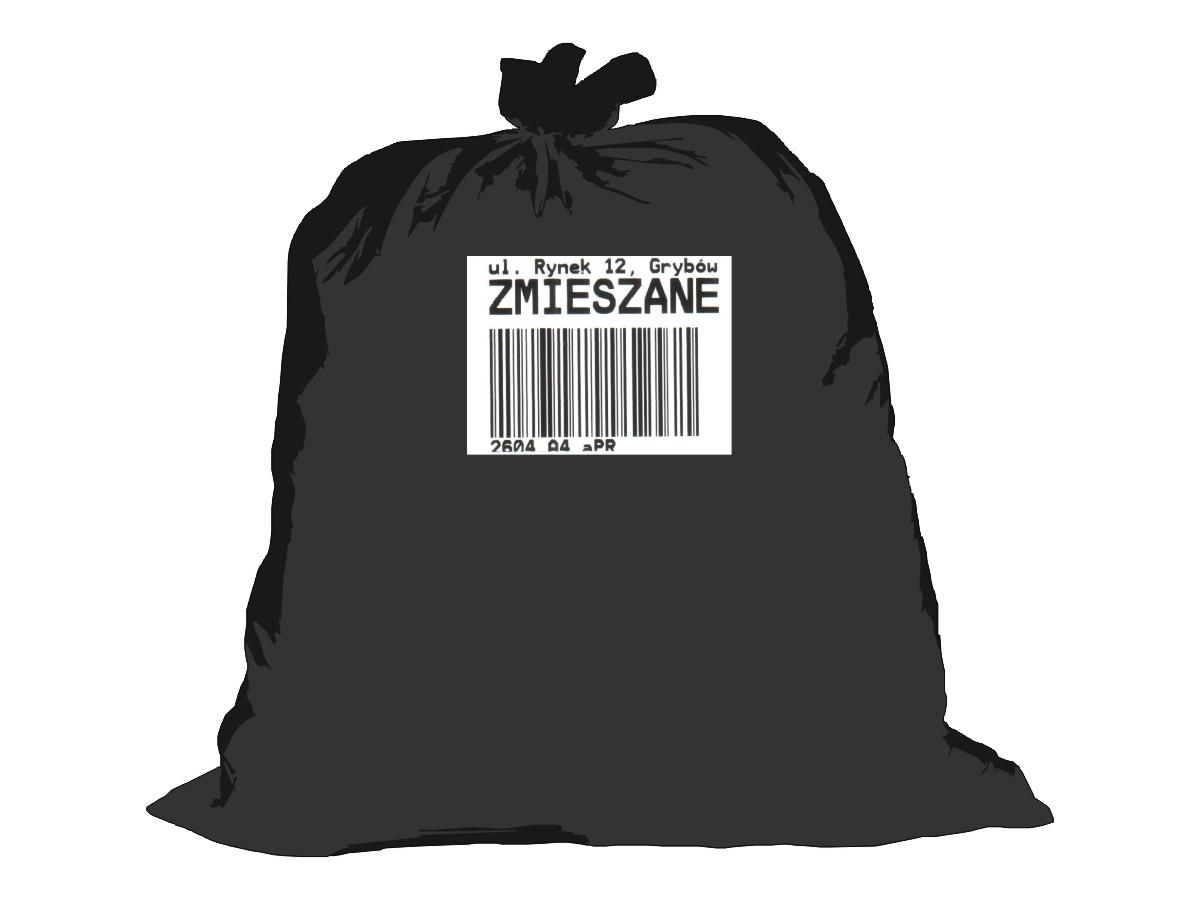 Gospodarka odpadami komunalnymi - worek czarny