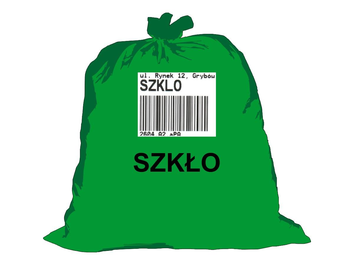 Gospodarka odpadami komunalnymi - worek zielony