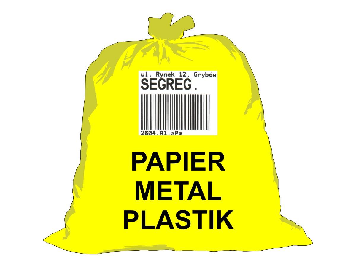 Gospodarka odpadami komunalnymi - worek żółty