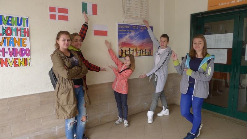 Gimnazjum w Grybowie i spotkanie we Włoszech