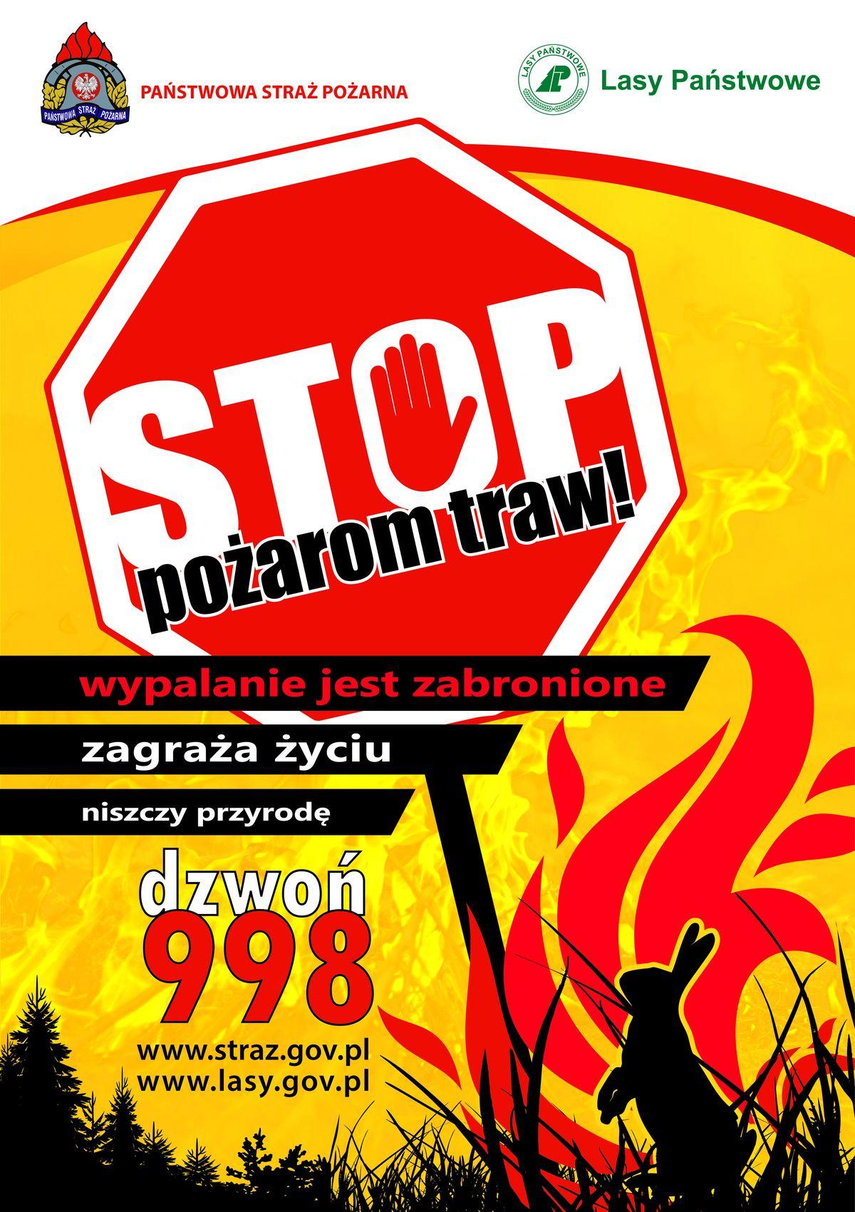 """Kampania """"STOP pożarom traw!"""""""