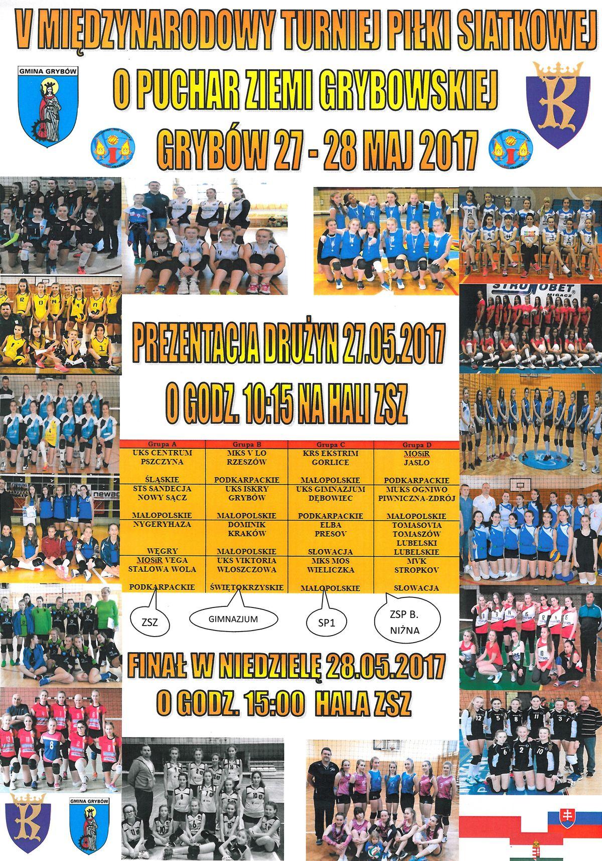 Turniej Piłki Siatkowej o Puchar Ziemi Grybowskiej
