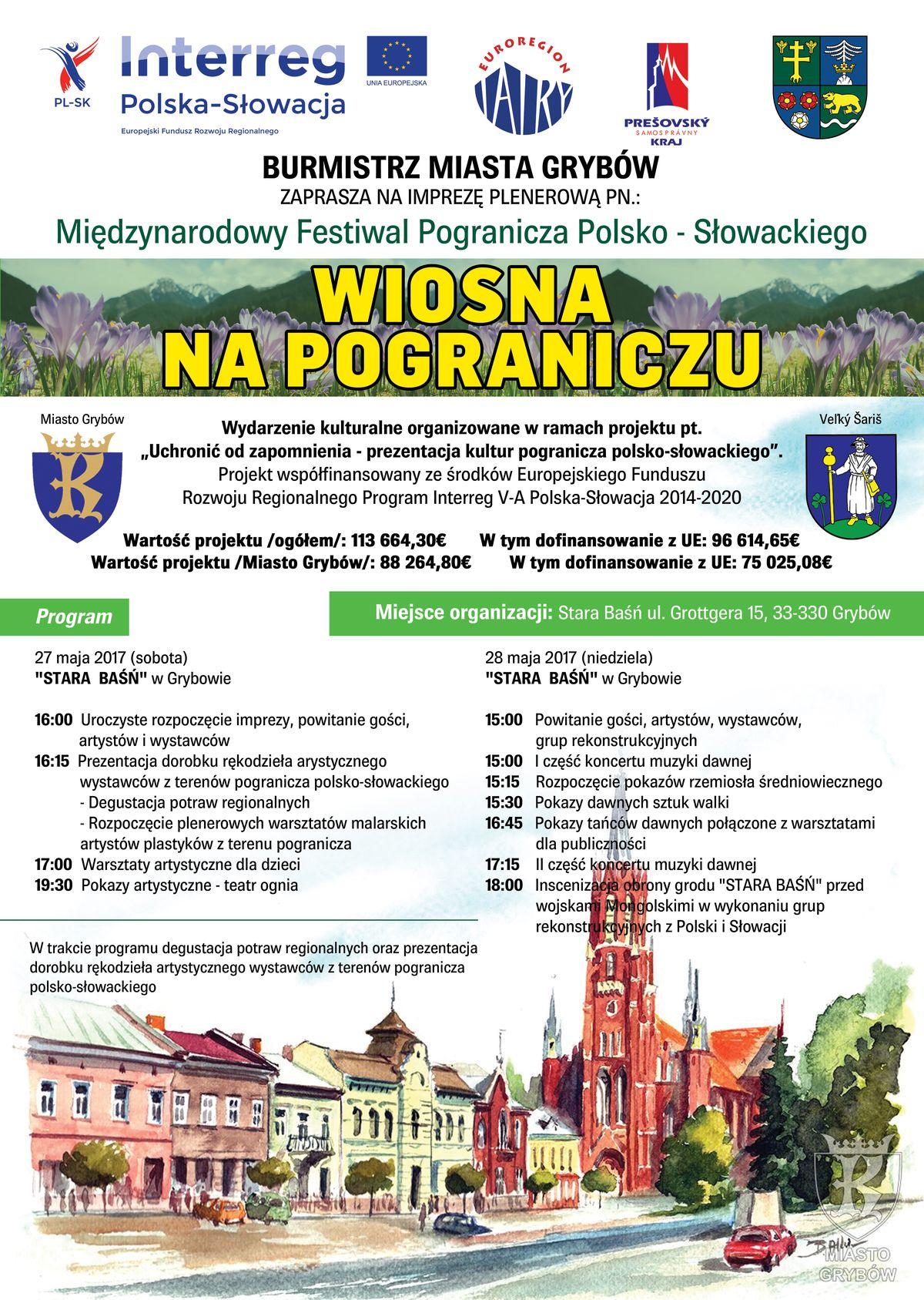 """Międzynarodowy Festiwal Pogranicza Polsko-Słowackiego pn. """"Wiosna na pograniczu"""""""