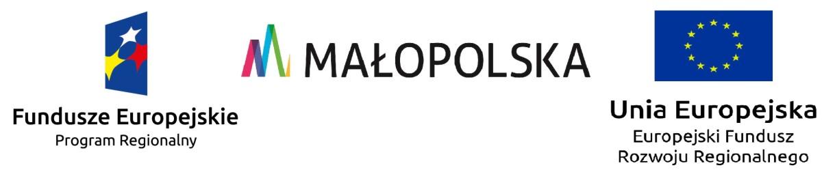 Logotyp zbiorczy: FE + Małopolska + UE