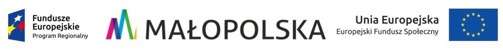 Logo: Fundusze Europejskie / Małopolska / Unia Europejska