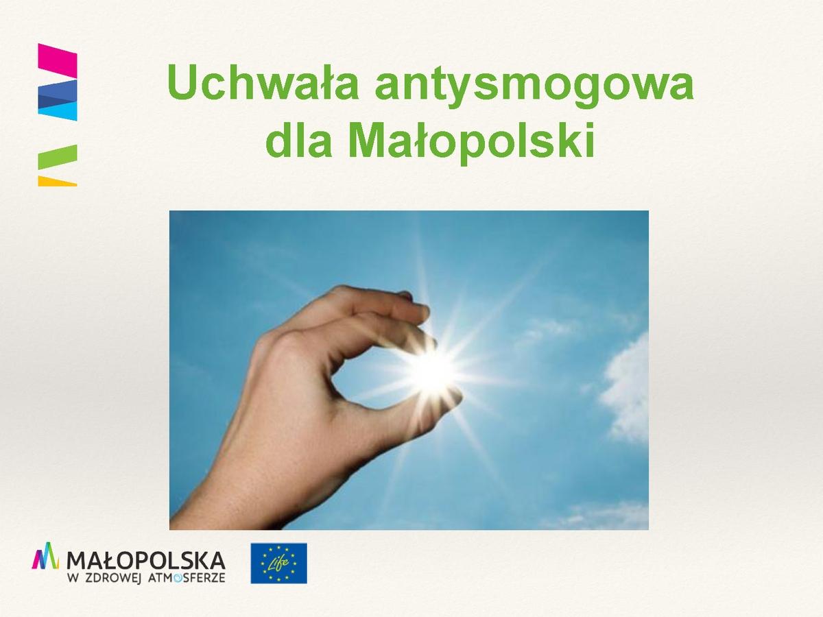 Uchwała antysmogowa dla Małopolski