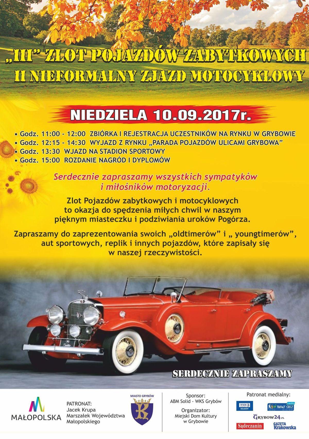 Jesień Grybowska 2017: III Zlot Pojazdów Zabytkowych