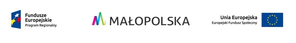 Logotyp zbiorczy: FE + Małopolska + UE (FS)