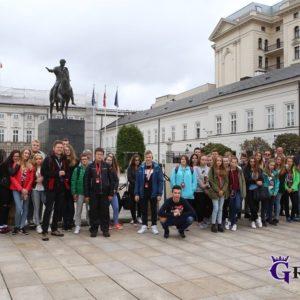 2017-09-22: Wycieczka Młodzieżowej Rady Miasta do Warszawy