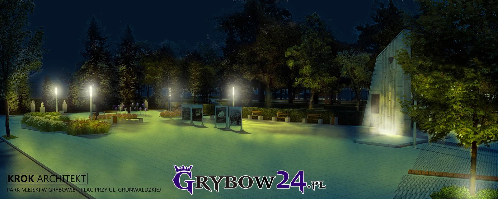 Rewitalizacja Parku Miejskiego wGrybowie (Wizualizacja KROK ARCHITEKT)