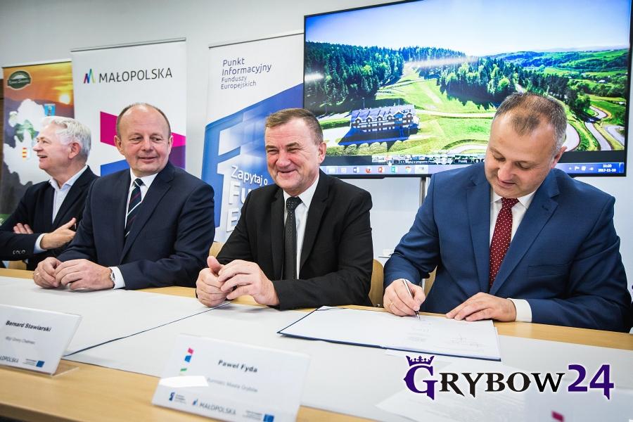 2017-11-10: Podpisanie umowy na rewitalizację Parku Miejskiego w Grybowie