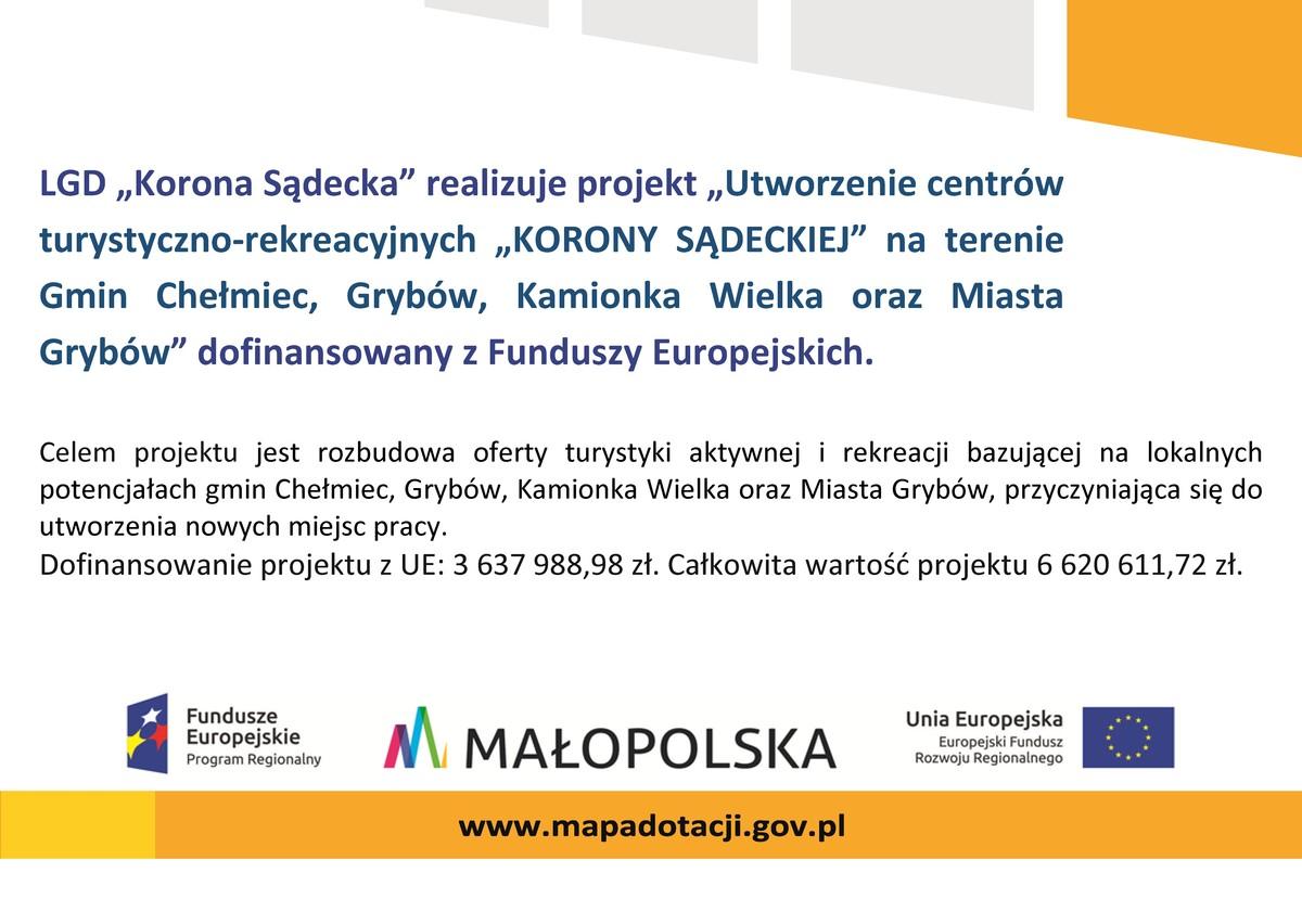"""Projekt """"Utworzenie centrów turystyczno-rekreacyjnych..."""""""