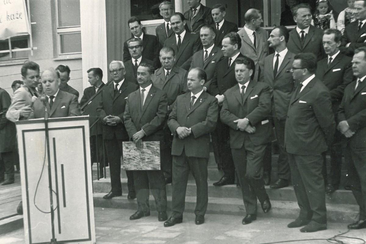 Uroczyste otwarcie nowej szkoły (26 czerwca 1966 r.)