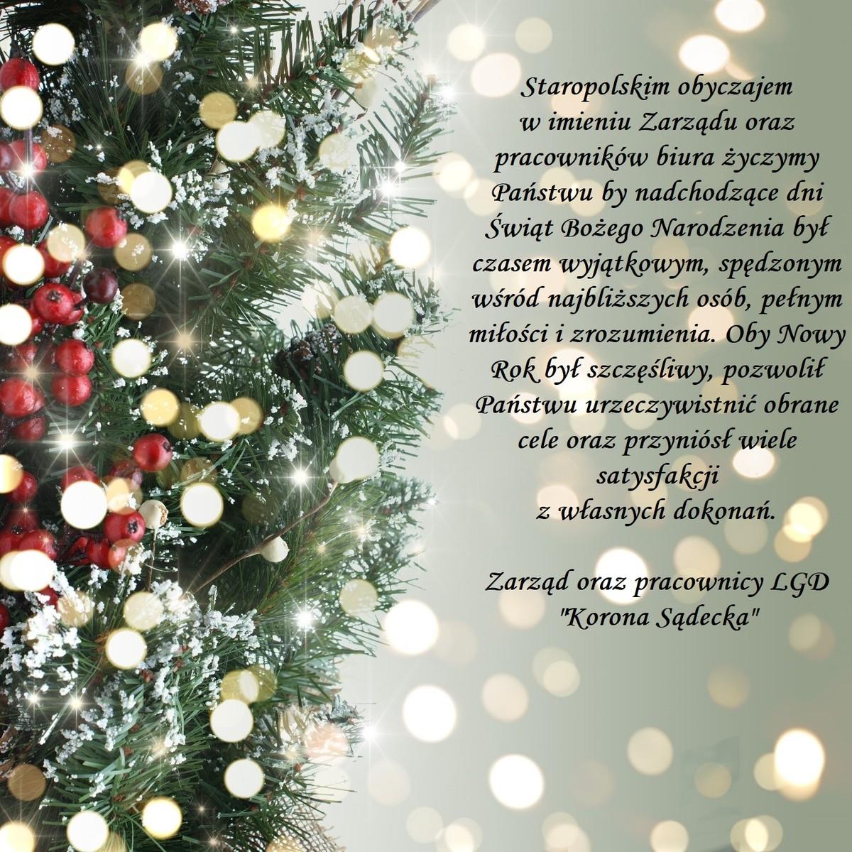 Życzenia świąteczne: Boże Narodzenie