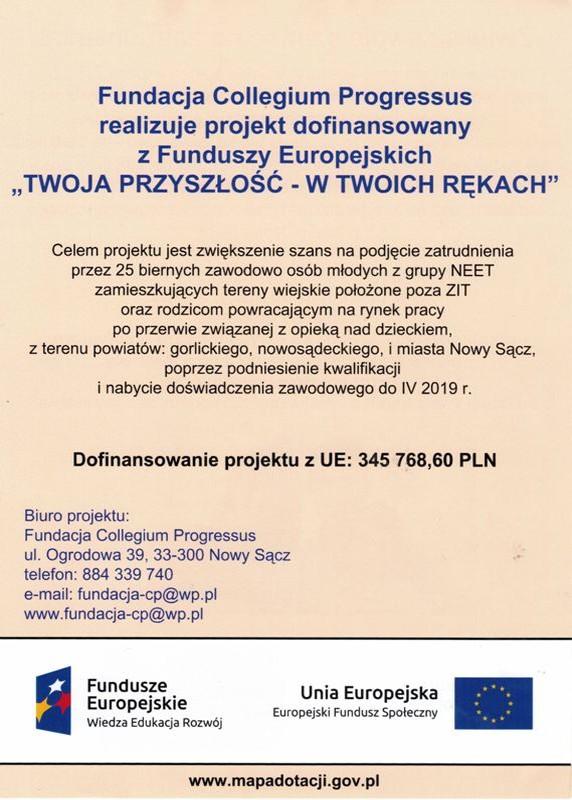 """Projekt """"TWOJA PRZYSZŁOŚĆ - WTWOICHRĘKACH"""""""