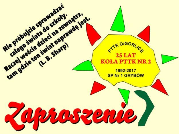 25 lat Koła PTTK Nr 2 w Grybowie