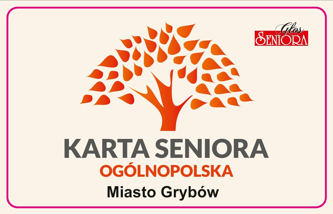Ogólnopolska Karta Seniora - Miasto Grybów (awers)