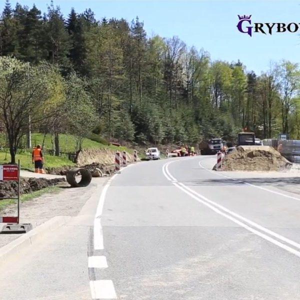 Budowa chodników przy DK 28 - Miasto Grybów