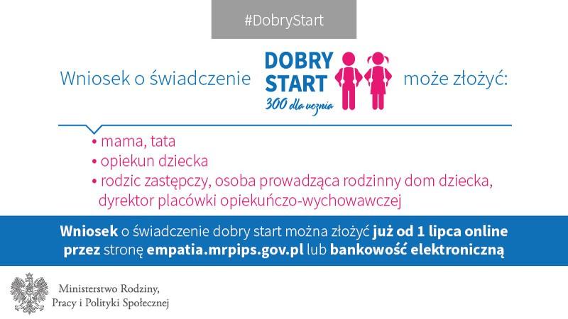 """Rządowy program """"Dobry Start"""""""