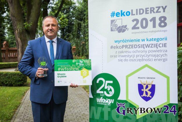 2018-06-14: Miasto Grybów z prestiżowym tytułem #EkoLIDER2018