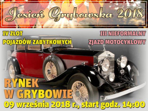 Jesień Grybowska 2018: IV Zlot Pojazdów Zabytkowych oraz III Nieformalny Zjazd Motocyklowy