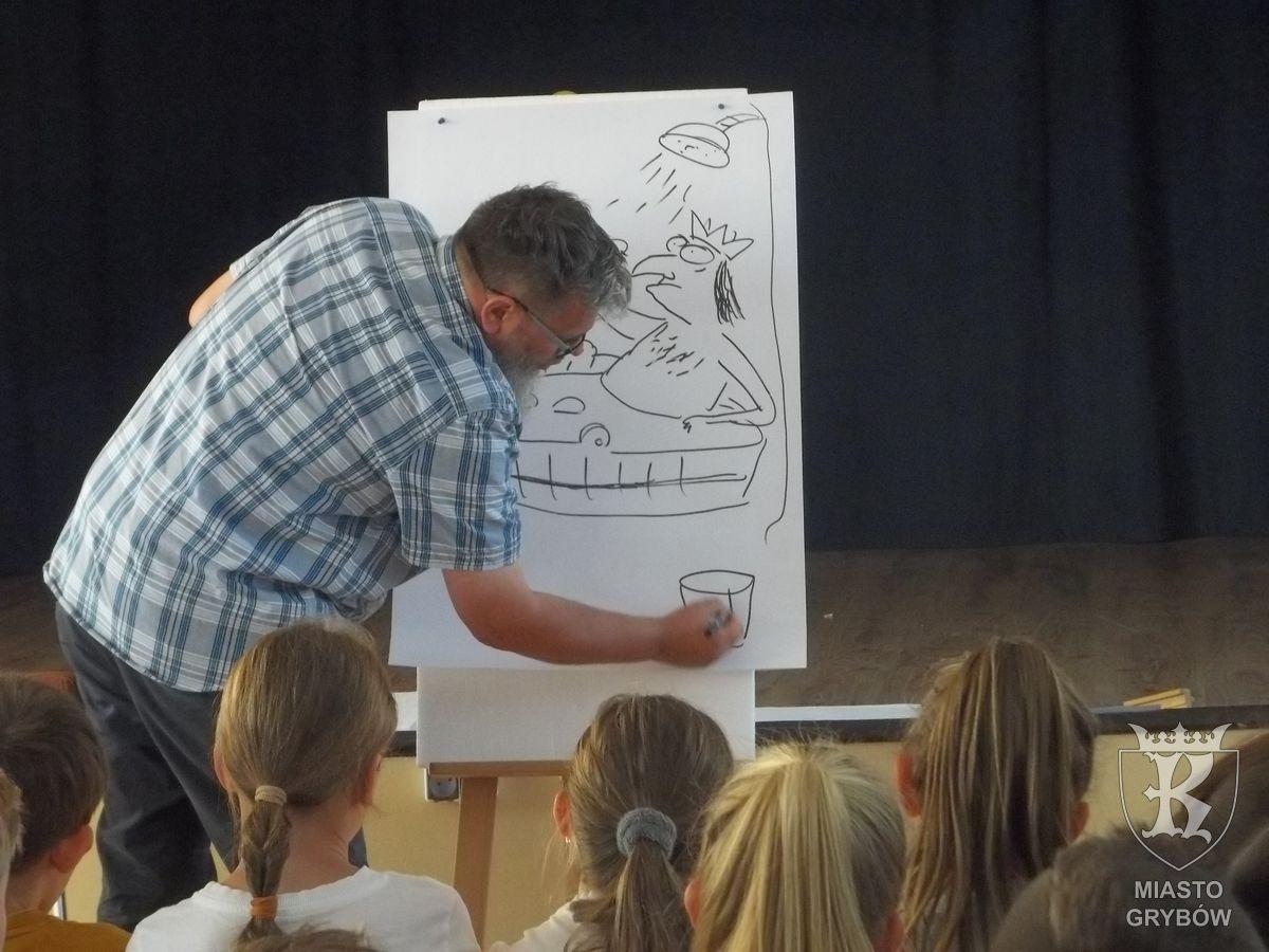 2018-09-13: Spotkanie z rysownikiem-humorystą Pawłem Wakuła