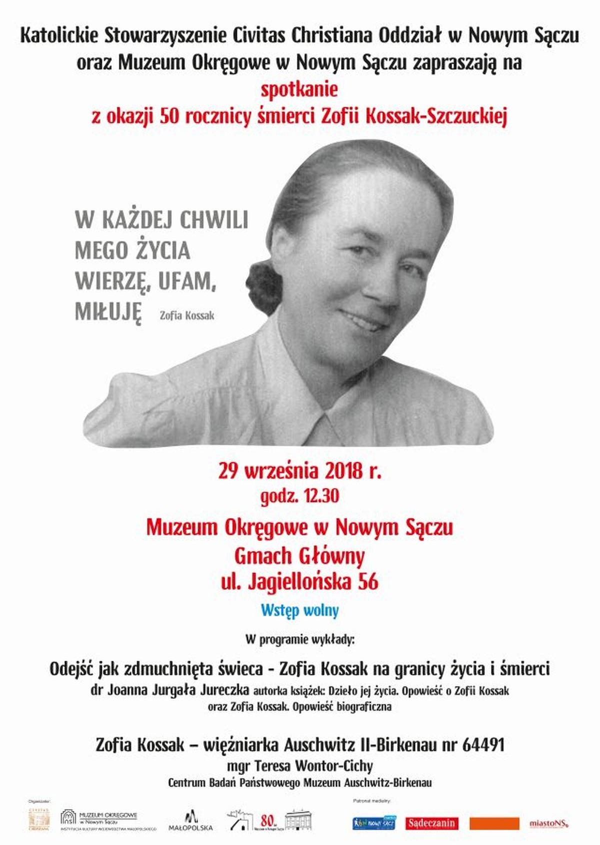 50-ta rocznica śmierci Zofii Kossak-Szczuckiej