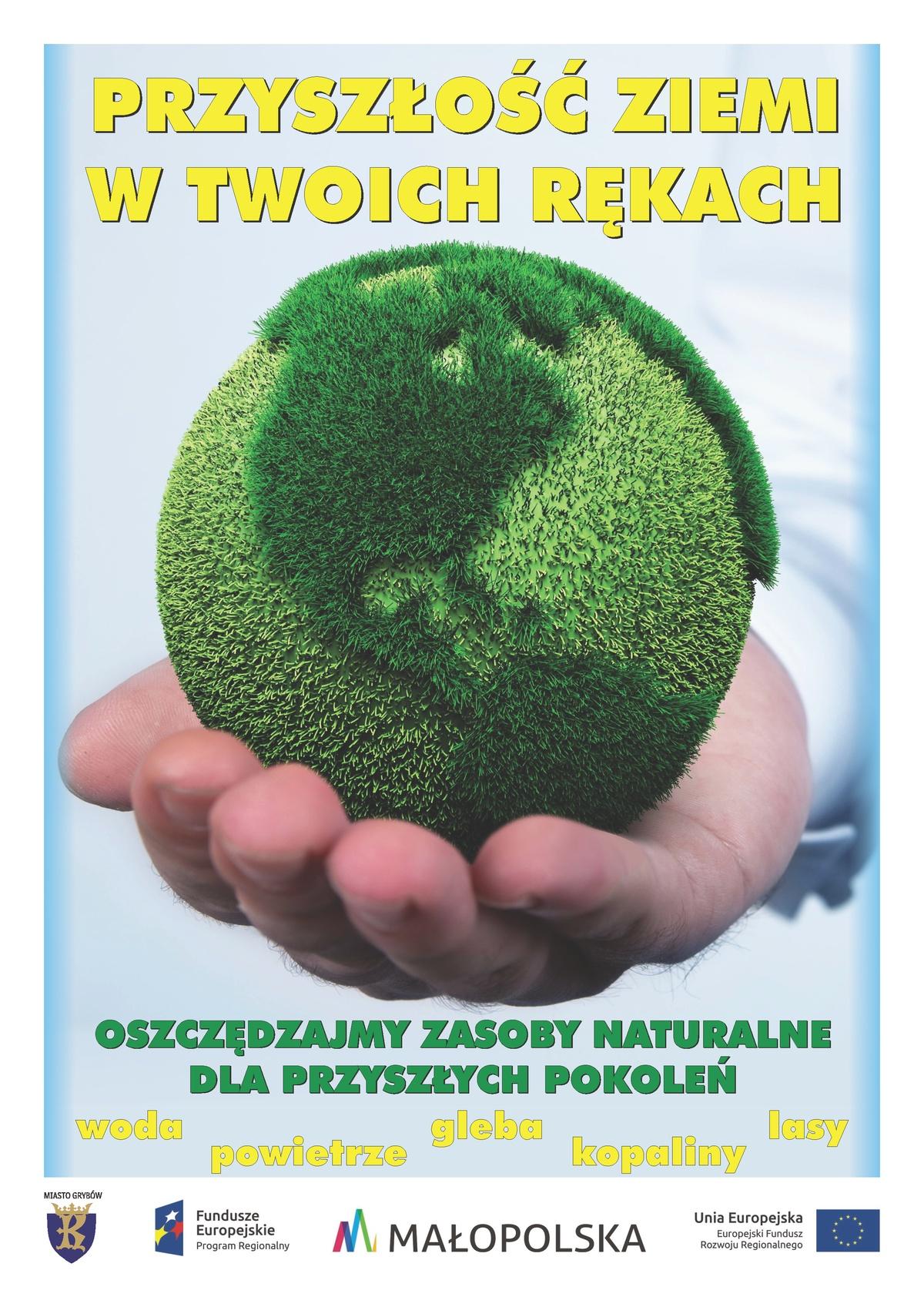 """Plakat """"Przyszłość Ziemi w Twoich rękach"""""""