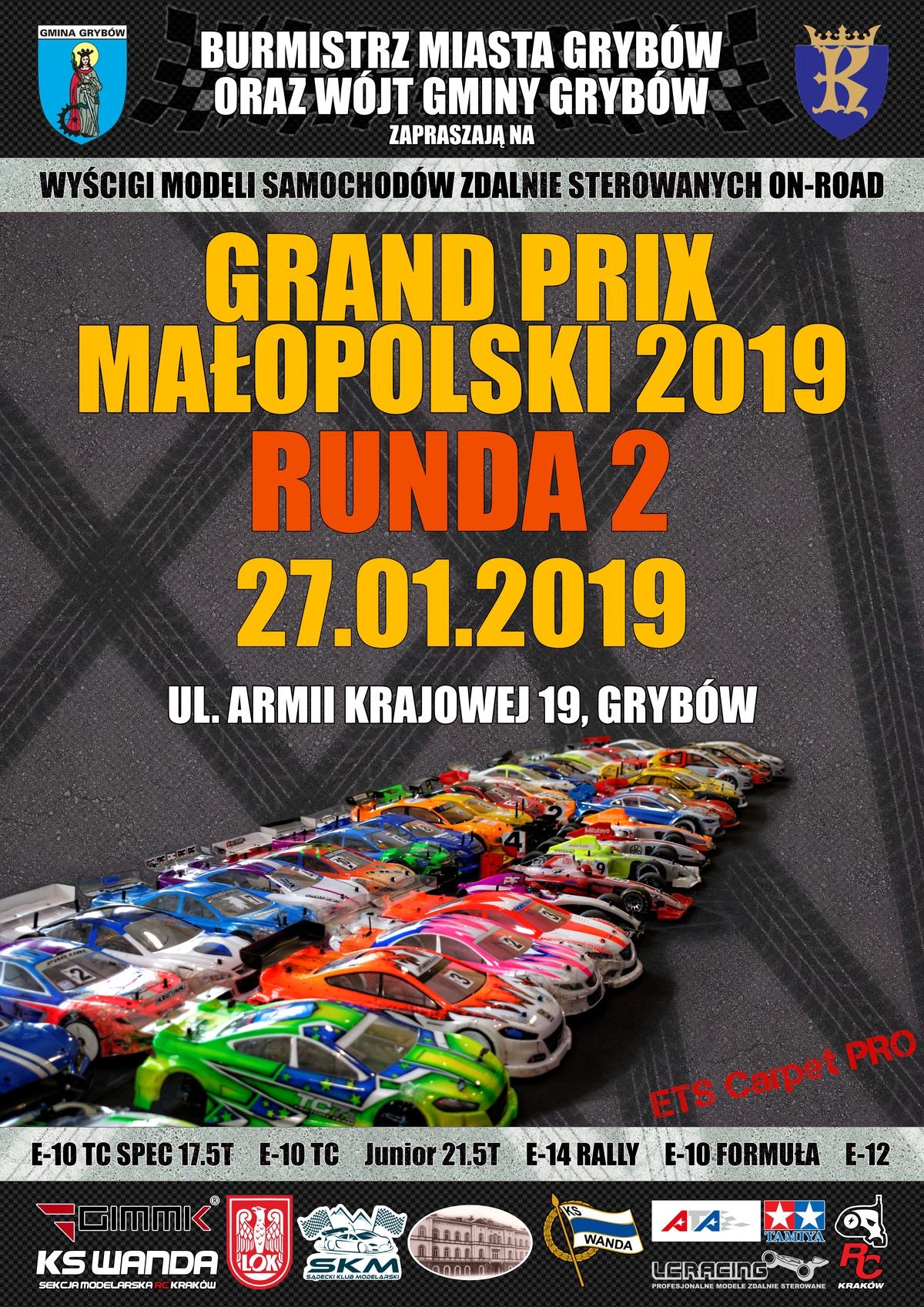 Plakat: GRAND PRIX Małopolski 2019 - Runda 2