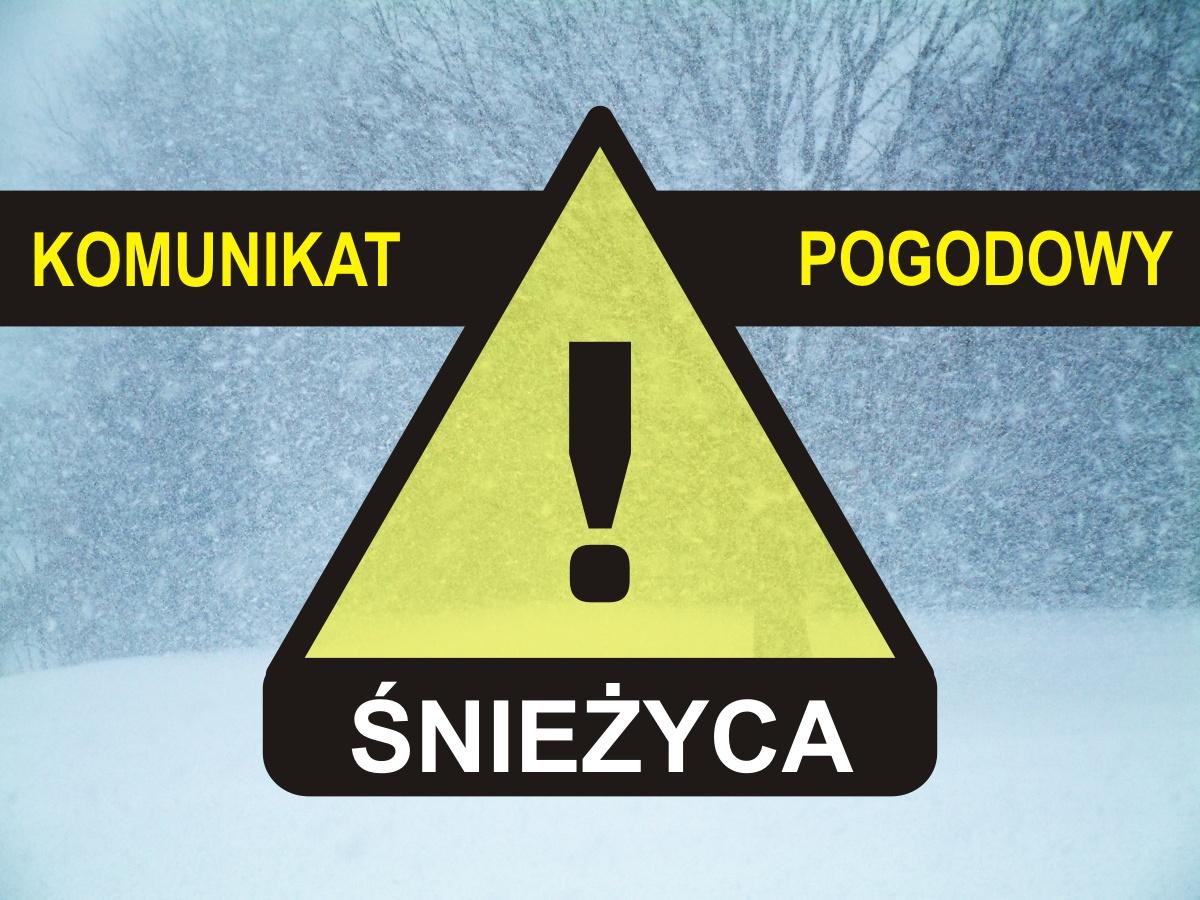 Komunikat pogodowy: : Śnieżyca