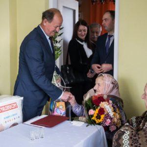 2018-12-03: Setne urodziny mieszkanki Grybowa pani Wiktorii Góra