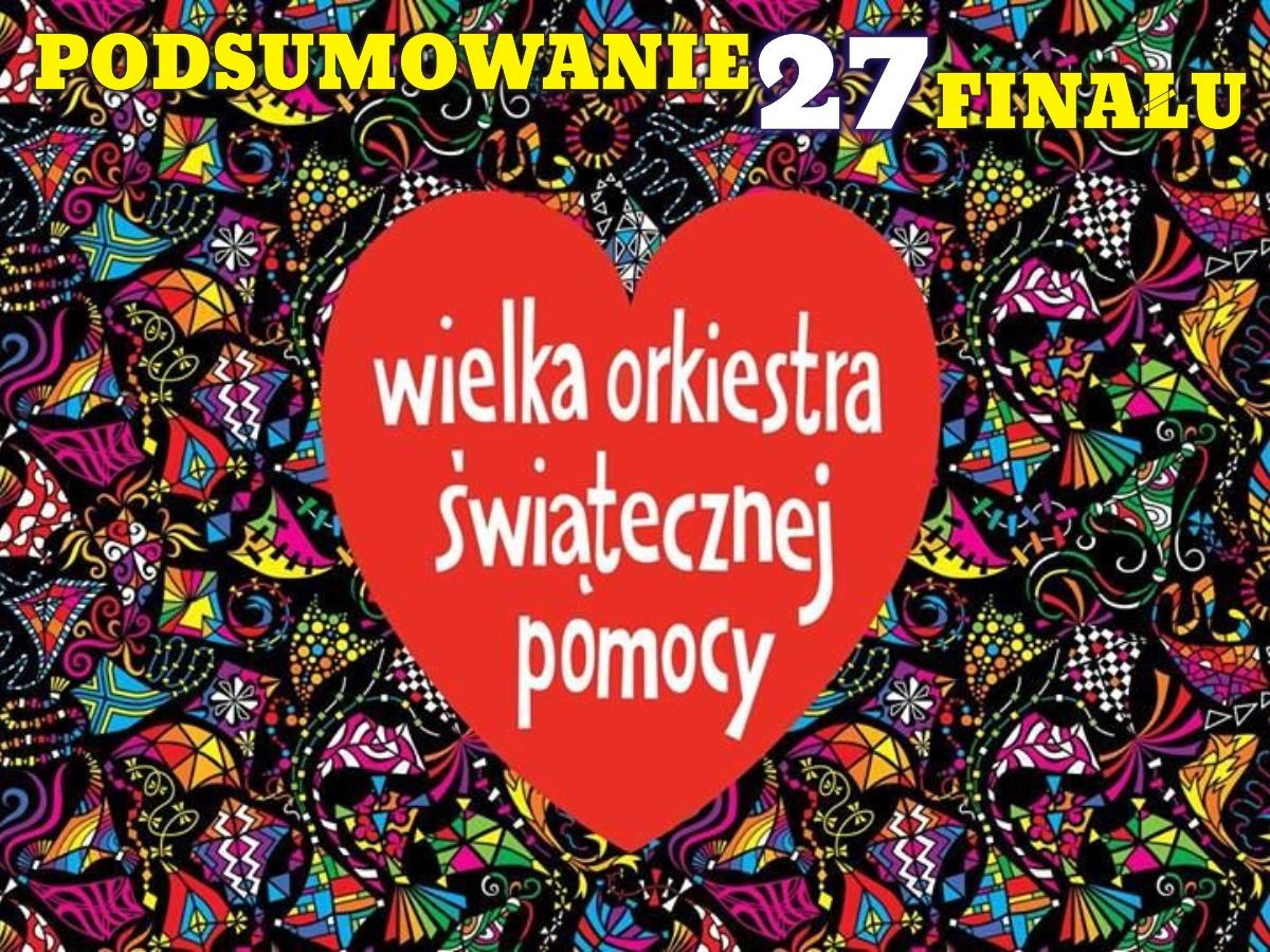Podsumowanie 27. finału WOŚP