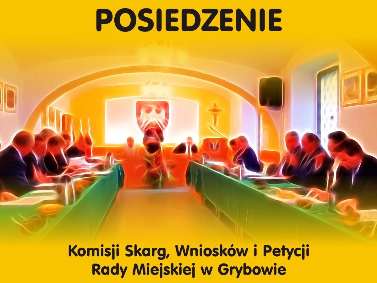 Posiedzenie Komisji Skarg, Wniosków i Petycji Rady Miejskiej w Grybowie