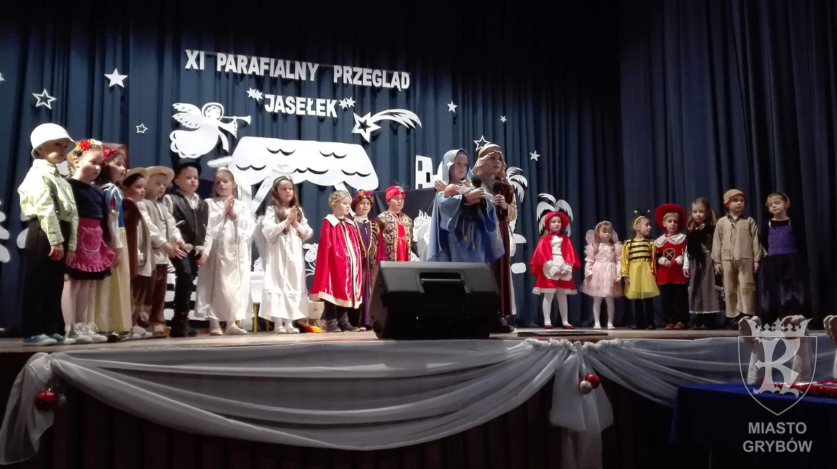 """2019-01-27: """"Słoneczka"""" podczas XI Parafialnego Przeglądu Jasełek"""