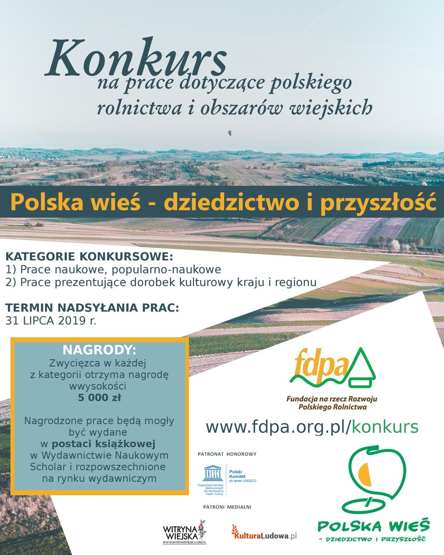 """Projekt """"Polska wieś - dziedzictwo iprzyszłość"""""""