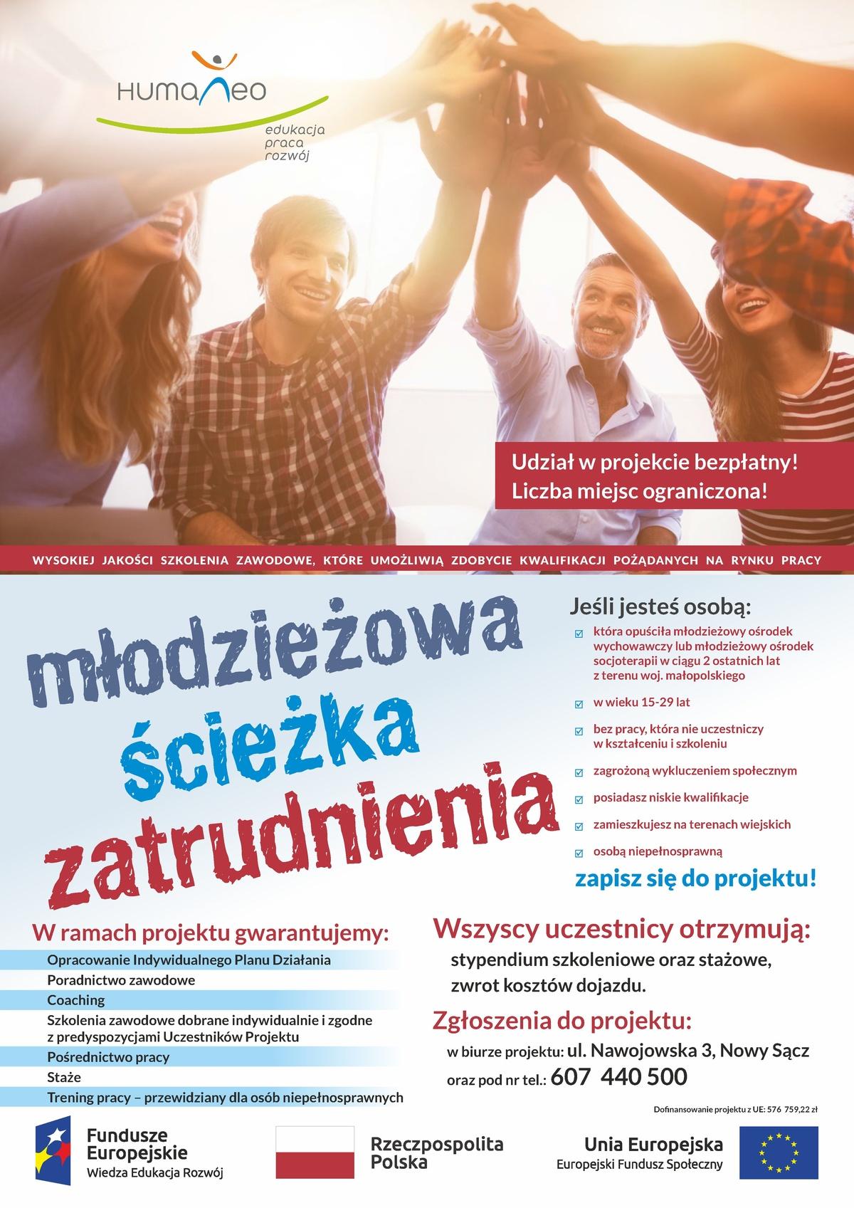"""Projekt """"Młodzieżowa ścieżka zatrudnienia"""""""