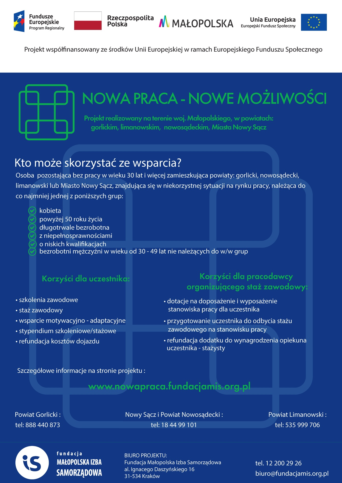 """Projekt """"Nowa praca - Nowe możliwości"""""""