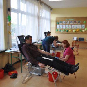 """2019-05-12: Kolejna akcja oddawania krwi zorganizowana przez Klub HDK """"ADMA"""" w Grybowie"""