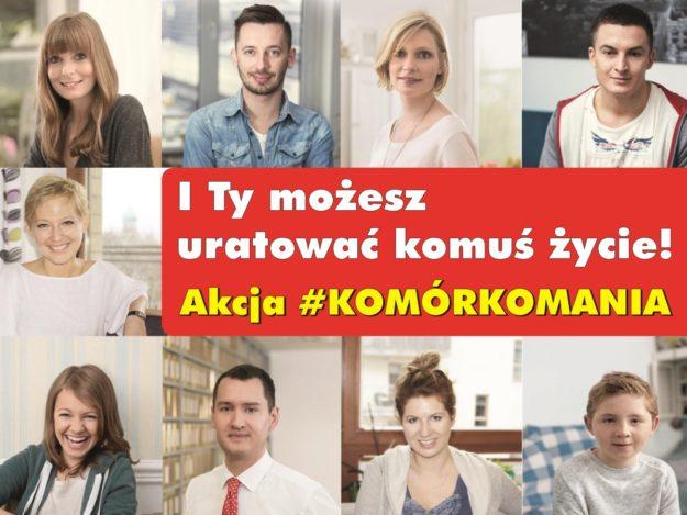 Plakat: Akcja #KOMÓRKOMANIA