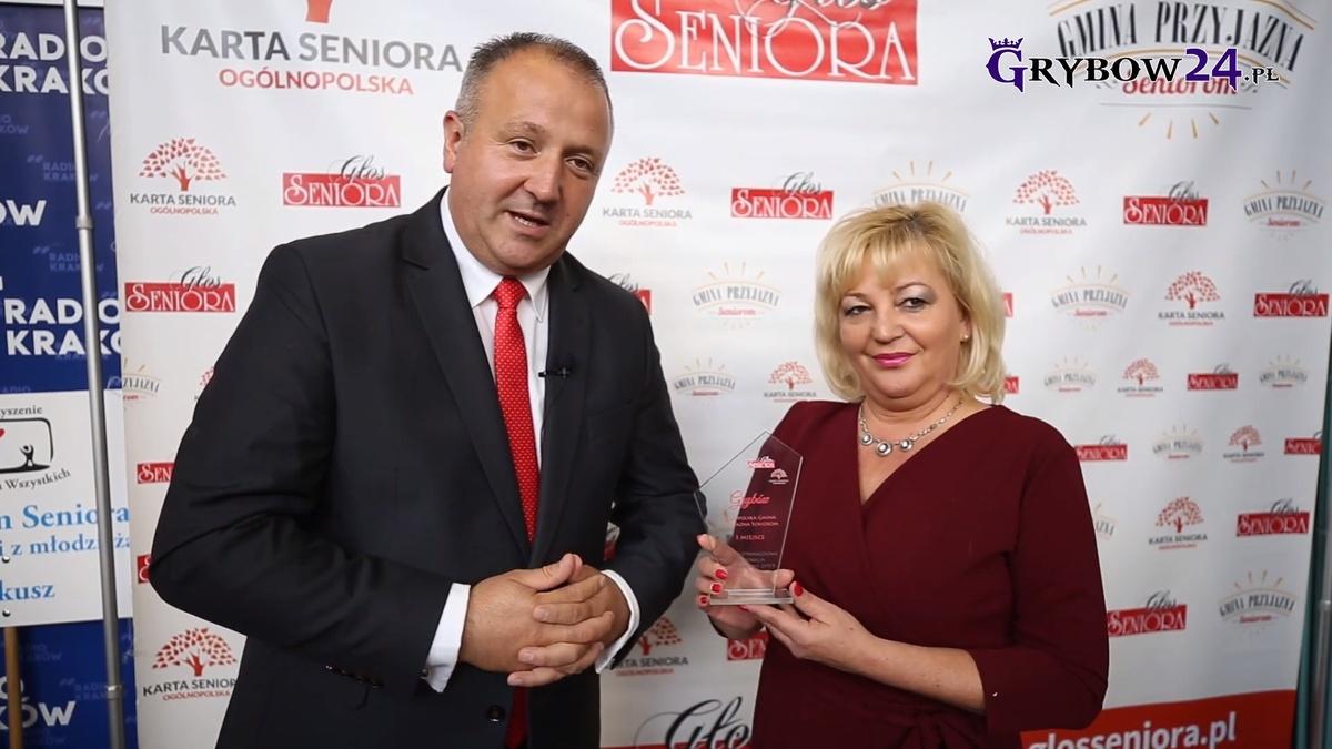 """2019-09-19: Miasto Grybów z tytułem """"Miasto Przyjazne Seniorom"""""""