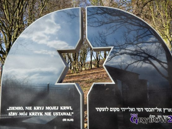 2019-11-03: Odsłonięcie pomnika nacmentarzu żydowskim wGrybowie